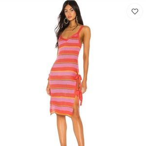 Tularosa dress in pink stripes NEVER WORN!!